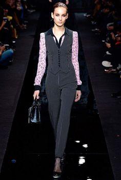 Diane von Furstenberg Fall 2015 Ready-to-Wear Fashion Show - Model Julia Bergshoeff