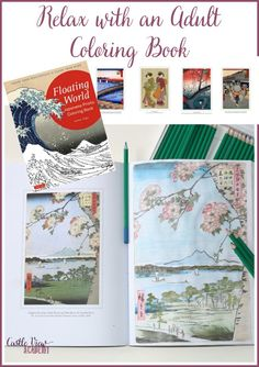 Floating World An Adult Coloring Book Of Japanese Prints