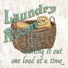 Laundry Room I Kunstdruck von Debbie DeWitt