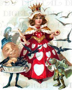 Offbeat Queen Humpty and Frog Digital by DandDDigitalDelights