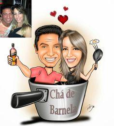 Desenho muito legal feito para Denise !!! O Desenho vai ser usado no Chá de Barnela e com certeza vai ser um sucesso !!! Site: www.ricksucaricaturas.com.br