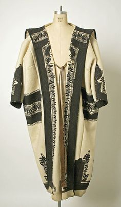 ( 1 of 3 photos) Coat Date: late century Culture: Hungarian Medium: wool Chain Stitch Embroidery, Learn Embroidery, Textiles, Boho Fashion, Vintage Fashion, Fashion Design, American Dress, Art Asiatique, Hungarian Embroidery