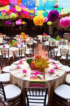 Colorful Wedding Tablescape via @WeddingDash.com - Wedding Websites.com - Wedding Websites