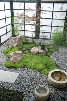 asian landscape by Garden Mentors.  The green is Knawel cushion, Scleranthus biflorus, z9-11.  Something to check out
