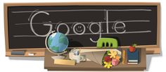 Teachers' Day 2011 – Multiple Countries on Various Days [День учителя] /This doodle was shown: 10.09.2011 /Countries, in which doodle was shown: China, Hong Kong, Poland, Taiwan, Turkey