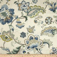 Iris Blue Floral Curtains, Large Scale Blue Floral Window Curtains, Traditional Curtains, Jacobean Floral, One Pair Rod-Pocket Curtains Pinch Pleat Curtains, Pleated Curtains, Lined Curtains, Window Curtains, Discount Fabric Online, Buy Fabric Online, Drapery Panels, Drapery Fabric, Curtain Material