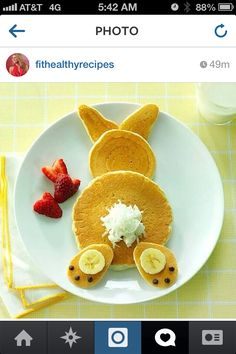 Bunny Pancakes on Easter Morning