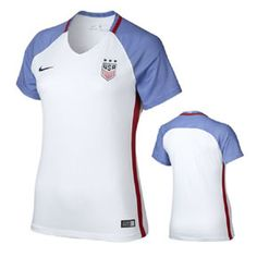 Nike Womens USA USWNT Player Cut Soccer Jersey (Home 16/17): http://www.soccerevolution.com/store/products/NIK_41033_A.php