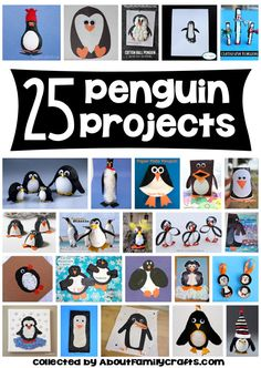 25 Penguin Projects for Kids - Who can resist making one -- or more -- of these adorable penguin crafts! (http://aboutfamilycrafts.com/25-penguin-projects-for-kids/)