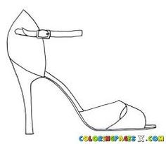 high heel shoe template for coloring in - Google Search