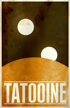 Minimalist Star Wars travel posters by Justin van Genderen . He mad a Tron Legacy poster , too. Theme Star Wars, Star Wars Art, Poster Retro, Vintage Posters, Tourism Poster, Travel Posters, Hayao Miyazaki, Carte Star Wars, Star Wars Poster