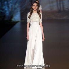 Abendkleid Sandrine Weiss Online