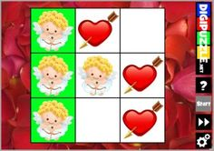 Valentine TicTacToe Valentine Games, Yoshi, Puzzles, Play, Character, Art, Puzzle, Riddles, Kunst