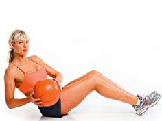 How to get a  stomach  Medicine ball twists    Sit on the ground holding a light medicine ball (2-3kg is a good start). Keep your heels on the ground and lower your torso back to 30 degrees. Twist your torso and rotate the ball to your left. Stop when the ball is a few inches from the ground. Twist back to the starting position and then onto the other side.