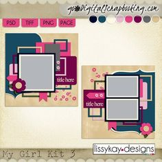 My Girl Kit 3 Templates by LissyKay Desings