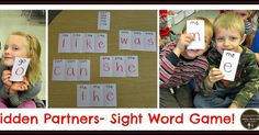 My class loved playing our Hidden Partners game to help reinforce math facts... SO I thought why not make a game for sight word...