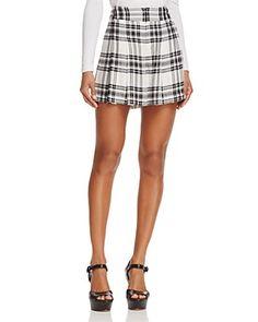 Alice + Olivia Scarlet High-Waist Flutter Shorts | Bloomingdale's