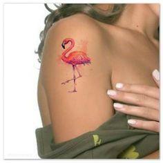 Fake Tattoos, Small Wrist Tattoos, Flower Tattoos, Body Art Tattoos, New Tattoos, Tatoos, Bird Tattoos, Flamingo Rosa, Pink Flamingos
