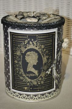 Muebles Shabby Chic, Tin Can Alley, Tin Can Art, Tin Can Crafts, Decoupage, Decorative Boxes, Scrap, Tin Cans, Canning