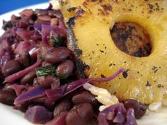 A high-protein, high-iron vegan version of Hawaiian beans and rice (with pineapple!).