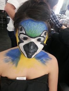 Theatre Makeup: Parrot Face Painting by ~xxParkin on deviantART