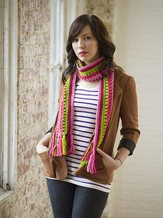 Taffy Pull Scarf by Coats & Clark