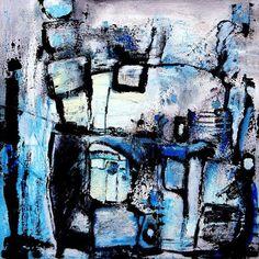 """It's about freedom!"" - canvas 50cm x 50cm Acrylic and Oil Paints, Filler, Quarz Sand"