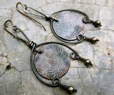 My Shelter from the Storm.   Copper disks pyrite by beatnheart, $58.00
