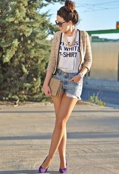 Vintage  Pants, Primark  Heels / Wedges and Zara  T Shirts