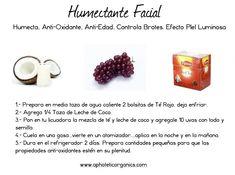 Humectante Facial Casero de Uvas Y Leche de Coco