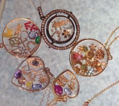 Loquet London Charms and Lockets. #lockets #charms #jewellery #gifts #zodiacsigns #bugs #flowers #pendants