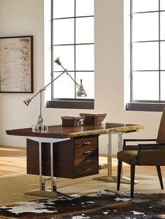 La Costa Live Edge Writing Desk | Sligh Studio Designs #LHBDesign, available through select Stickley, Audi & Co. showrooms