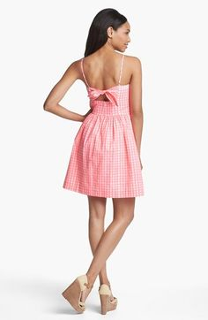 Gingham fit and flare - what a GREAT combo!!! And of course, LOVE the bow!!