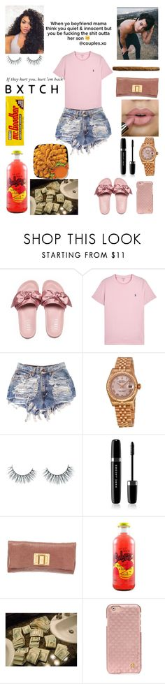 """""""Untitled #226"""" by miss-lelee-swagg ❤ liked on Polyvore featuring Polo Ralph Lauren, Rolex, Kimiko, xO Design, Unicorn Lashes, Marc Jacobs, Louis Vuitton and Tory Burch"""