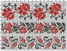Узоры для вышиванок схема 1 Beaded Cross Stitch, Cross Stitch Borders, Cross Stitch Flowers, Cross Stitch Kits, Cross Stitch Charts, Cross Stitch Designs, Cross Stitching, Cross Stitch Patterns, Stitching Patterns