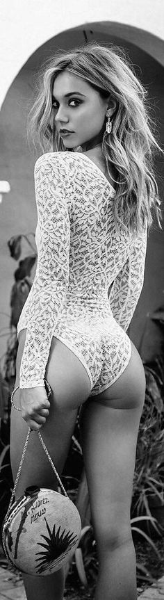 Look like a babe in this sexy white lace bodysuit. The Sasha White Lace Bodysuit features long sleeves and a lace up front. You are sure to turn heads in this white lace bodysuit. Hot Lingerie, Women Lingerie, White Lace Bodysuit, Lace Romper, Body Dentelle, Lace Swimsuit, Femmes Les Plus Sexy, Fashion Moda, Ad Fashion