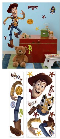 Toy Story Woody Giant Wall Sticker - Wall Sticker Outlet