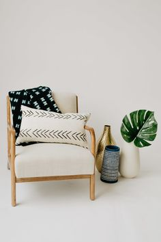 The Bamako Lumbar x Perfect Pillow, Home Collections, Pillow Inserts, Accent Chairs, Room Decor, Pillows, Living Room, Interior Design, House Styles