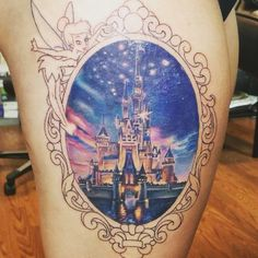 Disney Castle Tattoo #DisneyTattoo #Tattoo @waltdisneyworld