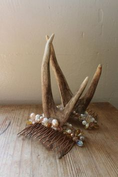 Woodland nymph head adornment  Champagne and Pearl by Mascherina, $75.00