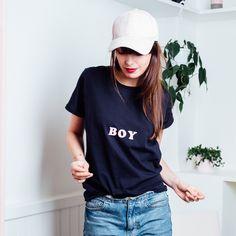 T-shirt Boy bleu