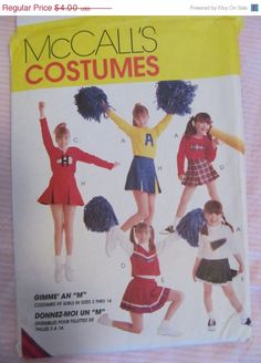 SALE Vintage McCall's Cheerleaders Costume Outfit by EarthToMarrs, $3.20