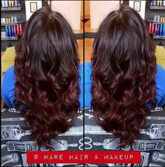 Dark auburn ombre this is almost exactly what I want!!!!