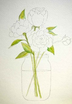 How to Paint Peonies