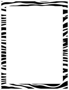 Free zebra print border templates including printable border paper and clip art versions. Art Deco Borders, Borders For Paper, Borders And Frames, Page Borders Free, Zebra Clipart, Printable Border, Free Printable Stationery, Printable Labels, Frame Template