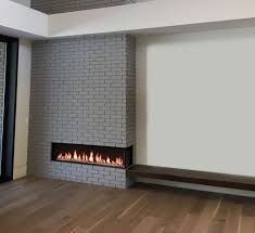 Want a fireplace in your home but looking for a unique design? Our corner fireplaces offer a new way to view your flame while also making smaller spaces feel larger. Corner Electric Fireplace, Corner Gas Fireplace, Build A Fireplace, Cast Iron Fireplace, Home Fireplace, Modern Fireplace, Brick Fireplace, Fireplace Design, Artificial Fireplace