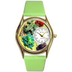Whimsical Frogs Green Watch