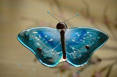 fused glass butterfly handmade by WorldinGlass on Etsy