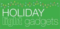 The latest gadgets to help you out with your home's light display! Holiday Lights, Christmas Lights, Solar Powered Lights, Latest Gadgets, Electric, Tech, Display, Holidays, Lighting
