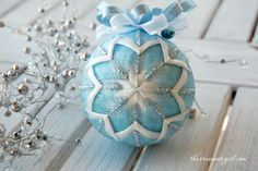 """""""Icicle"""" Quilted Ornament"""